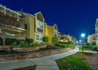 twilight exterior photography  of apartment community inland empire