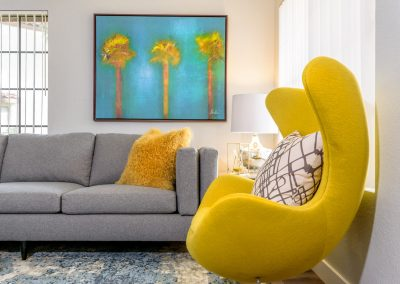 luxury upscale condo living room interior design photography inland empire