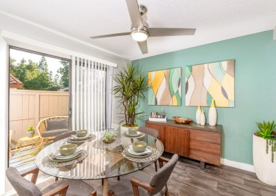 condo dining room photography san diego