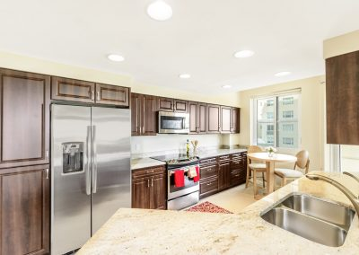 luxury kitchen interior design photography for condos