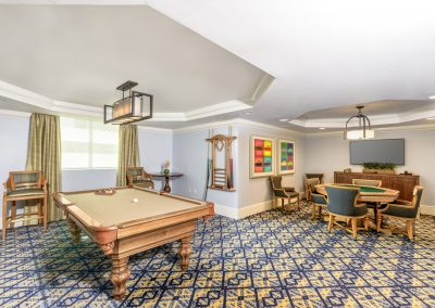 games room community room in  upscale multi family apartments